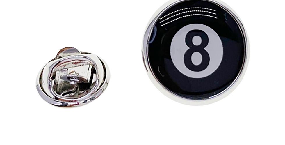8 Black Ball Brooch