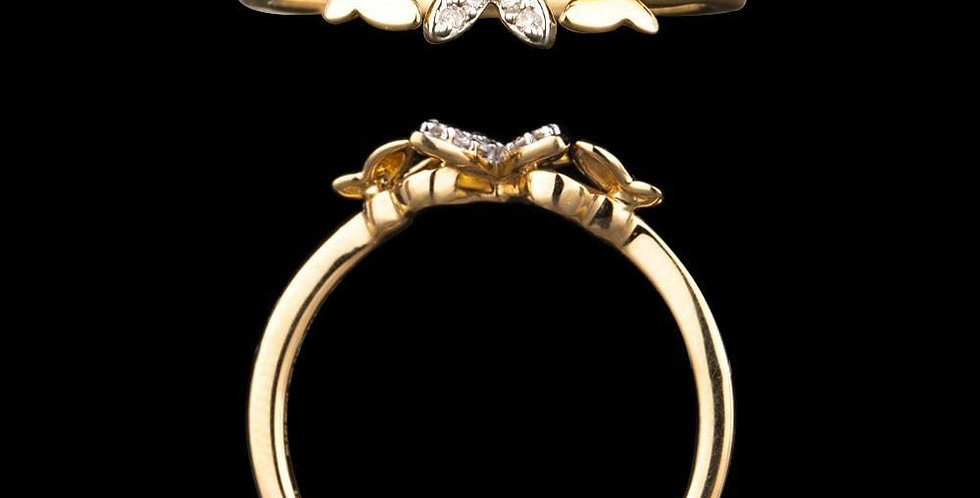 Trendy Trio Butterfly Ring