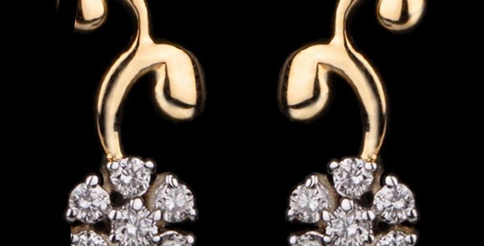 Curved Filigree Earring