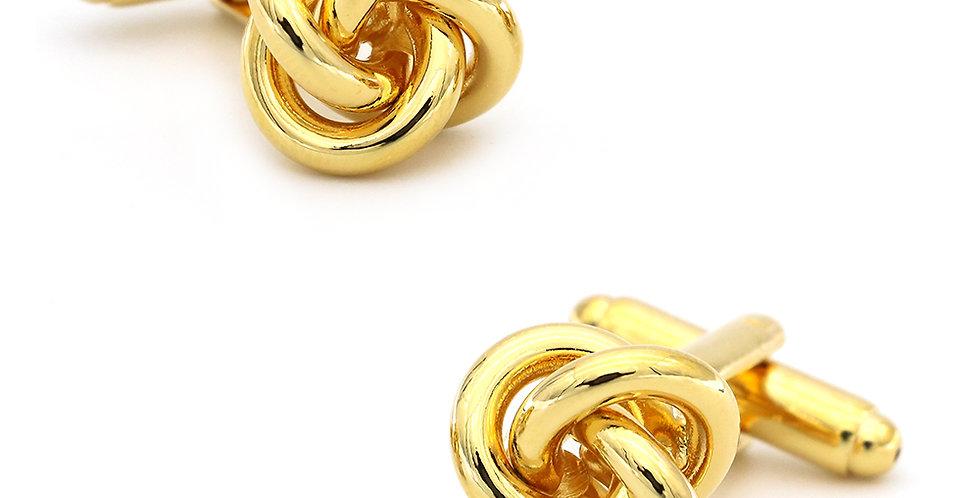Golden Knot Cuff-link