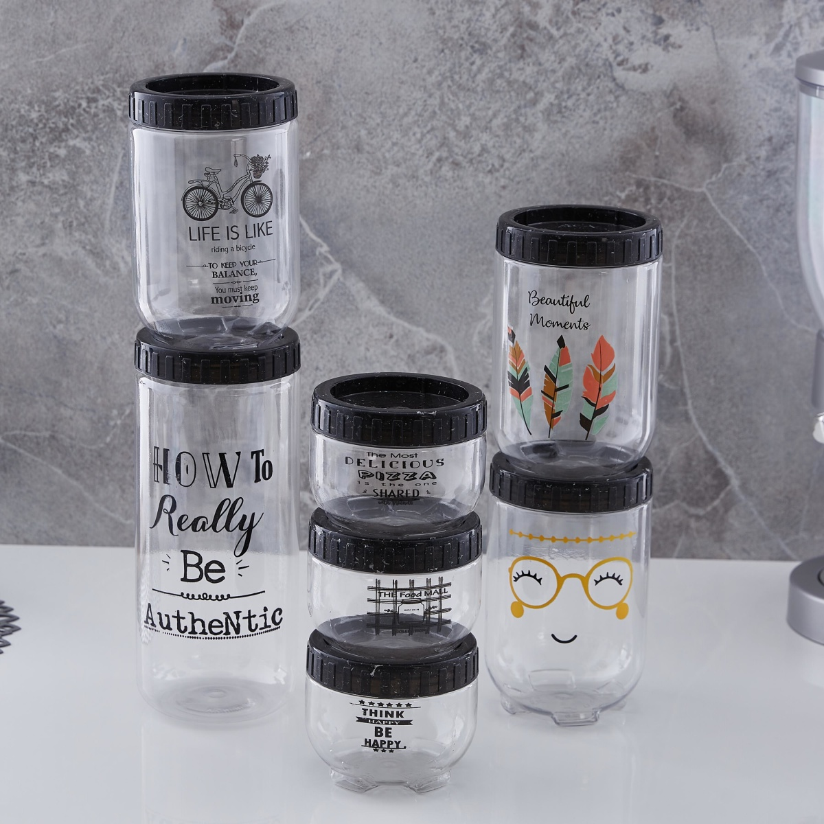 Stack and Store 7 pcs Jar Set