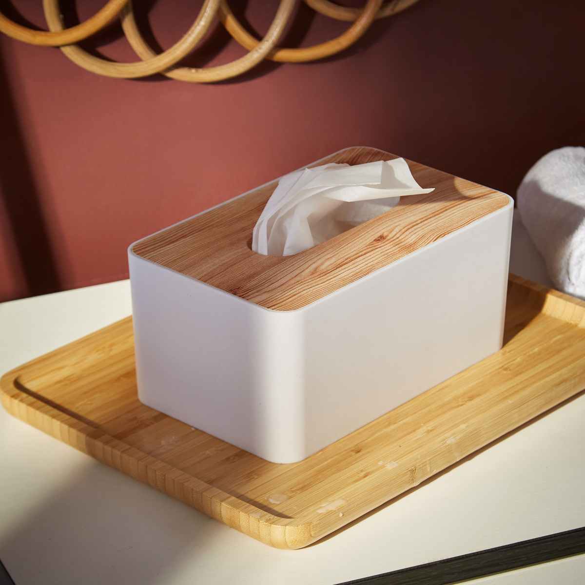Trends Tissue Box (Wood)