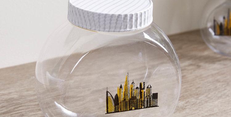 CityScape Candy Jars Set of 3