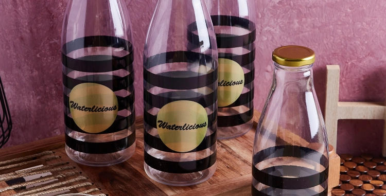 Waterlicious Bottles Set of 4