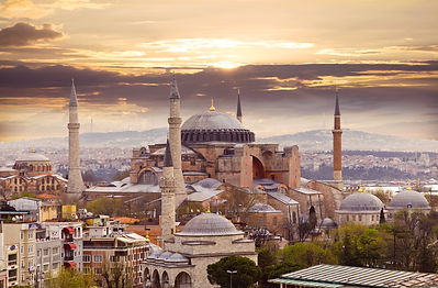 Hagia Sophia in Istanbul. The world famo