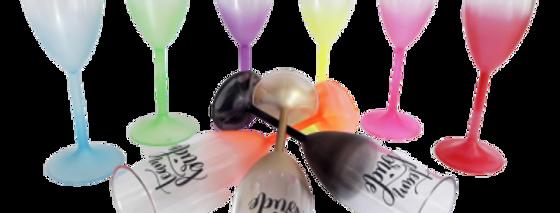 Taça De Champagne Degrade/jateada  Personalizada Caixa Com 50