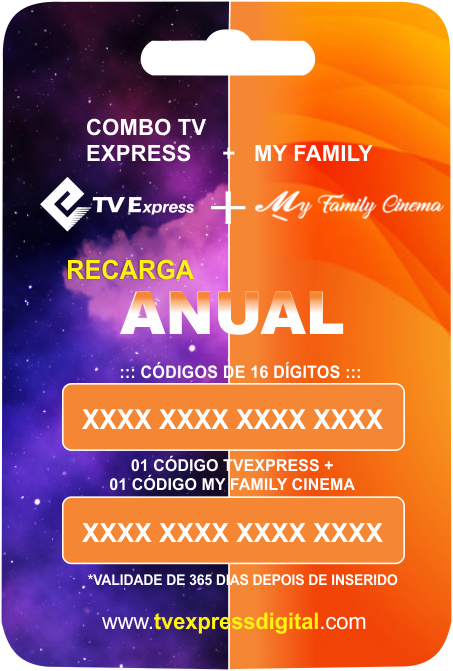 COMBO 365DIAS TVE + MY FAMILY CINEMA
