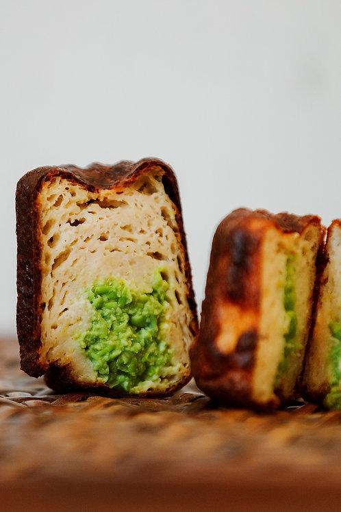 Canelé Yuzu & Parmesan AOP Insert Petit Pois & Fenouil