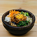 Dolsot Bibimbab in hot stone bowl