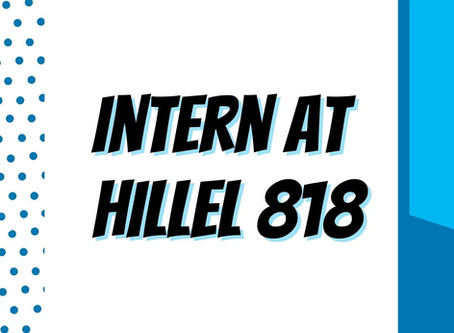 Apply to be an Intern at Hillel 818!