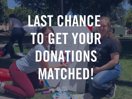 LAST CHANCE: Hillel Global Giving Week Ends Today!