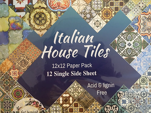 Italian House Tiles - 12 Single Sheet Pack
