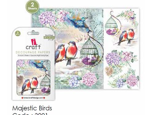 Majestic Birds - ICraft Decoupage Paper