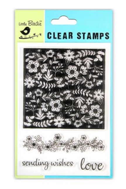 Floral Wishes - Little Birdie Clear Stamp