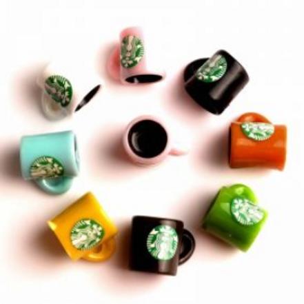 StarBucks Coffee  Mug- Resin Miniature