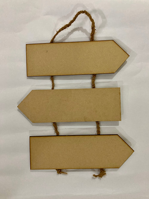 Three Plank Hanging Name Board - MDF product