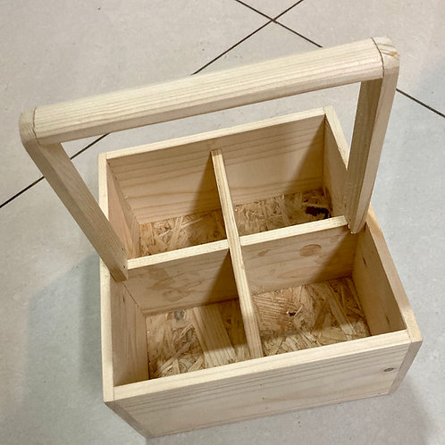 Pine Wood Four Slot Caddy