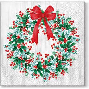 Wreath With Rowan - Decoupage Napkin