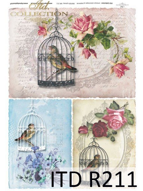 Bird Cage Collection- Rice Paper