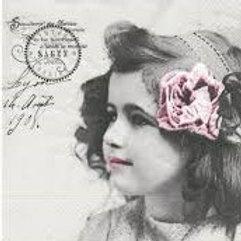 Pretty Girl - Decoupage Napkin