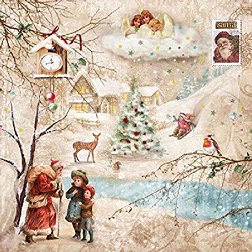 Winter Wonderland - Decoupage Napkin