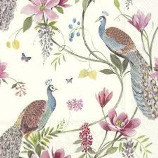 Peacock Garden Design- Decoupage Napkin