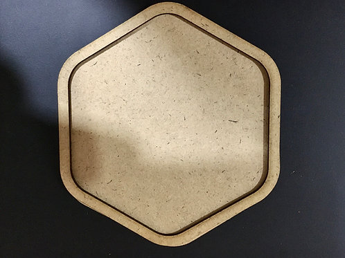 Hexagon Coaster With Rounded Edges for Resin- Set of 3
