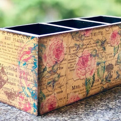 Pattern Paper Decoupage on Multipurpose Stand - Live Workshop