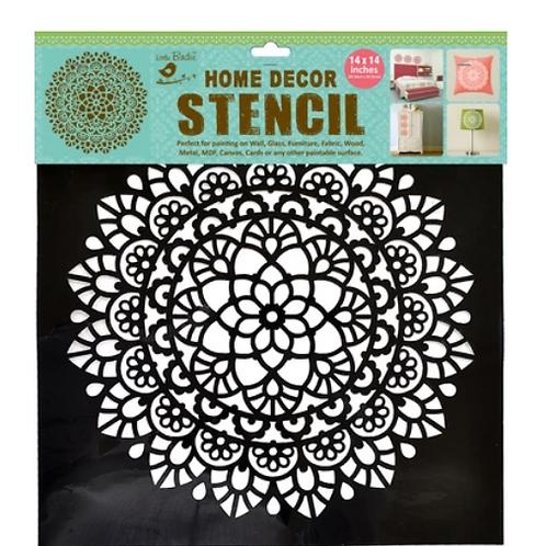 Classy lace- Stencil - 12x12