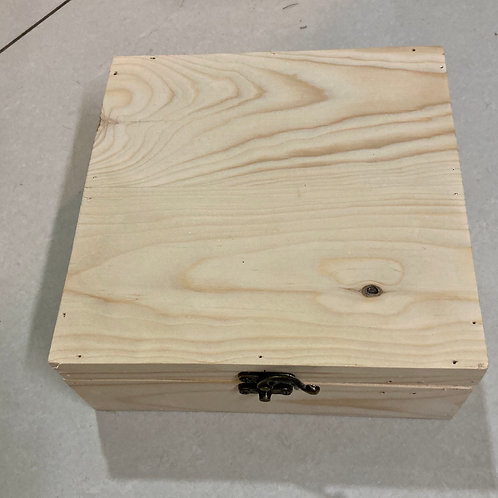 Pine Wood Box with Partitions