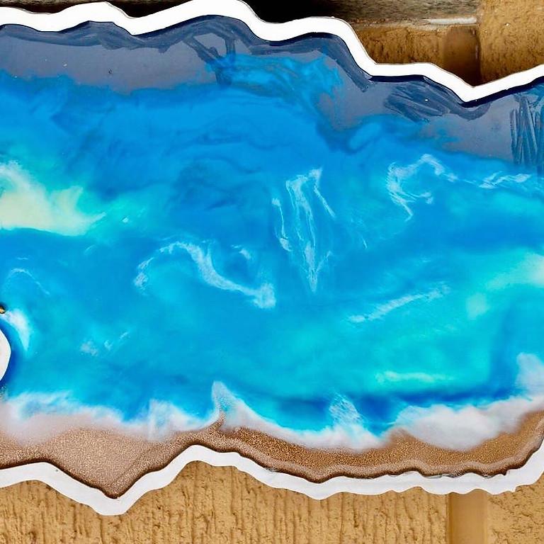 Resin Art On MDF Tray