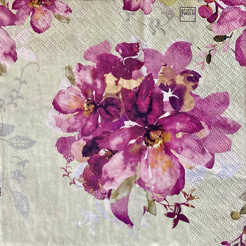 Purple Mint Bunch - Decoupage Napkin