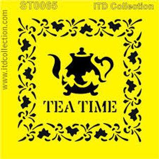 Tea Time - Stencil - 6.3 x 6.3