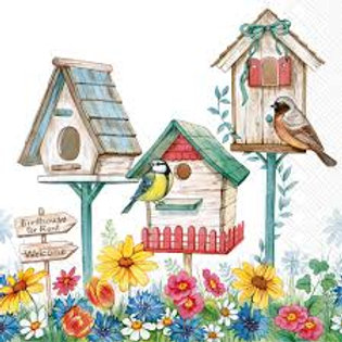 Birdhouse for Rent - Decoupage Napkin