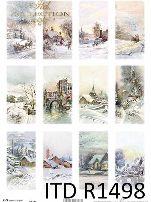 Winter Houses - Rice Paper