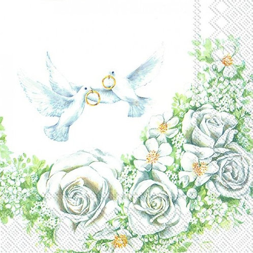 Romantic Doves - Decoupage Napkin