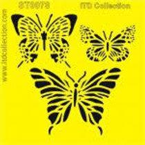 Butterfly - Stencil - 6.3 x 6.3