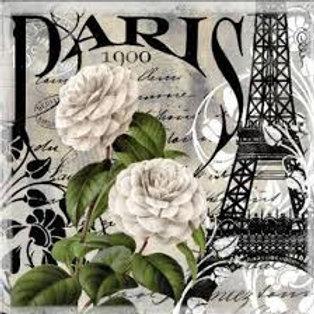 PARIS - Decoupage Napkin