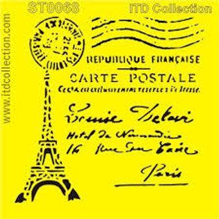 Paris - Stencil - 6.3 x 6.3