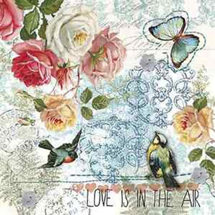 Love Is In The Air - Decoupage Napkin
