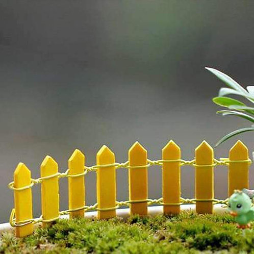 Yellow Wooden Fence - Miniature