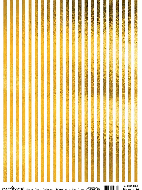 Golden Strips- Cadence Rice Paper
