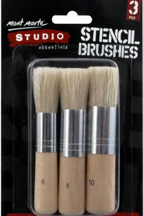 Stencil Brushes - Mont Marte