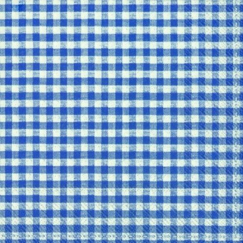Vichy Bavaria Blue - Decoupage Napkin
