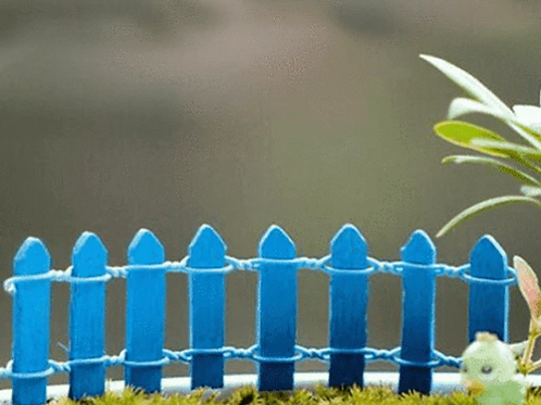 Blue Wooden Fence - Miniature