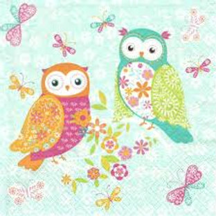 Cute Owl - Decoupage Napkin