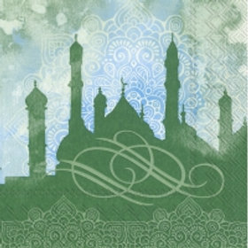 Noble Festivity Green- Decoupage Napkin