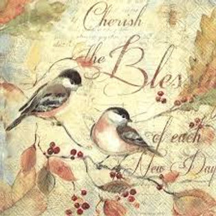Cherish The Blessings - Decoupage Napkin
