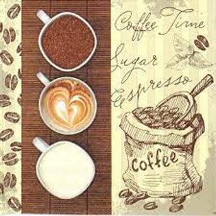 Coffee Trio - Decoupage Napkin