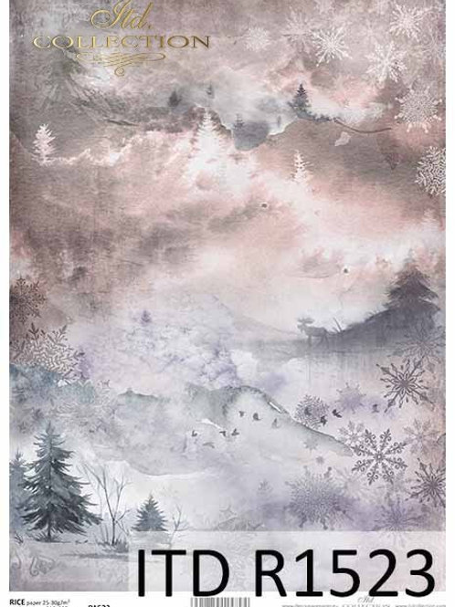 Winter Evenings- Rice Paper